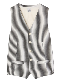 ジャーニーマン(JOURNEYMAN)のCotton Stripe Gilet VEST / ベスト