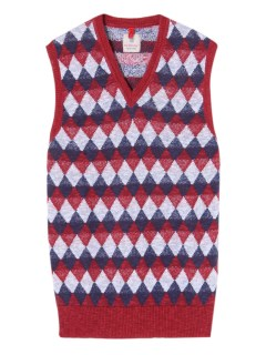 マックリッチ(McRITCHIE)のLinen&Cotton Diamond Patterned Knit Vest KNIT / ニット