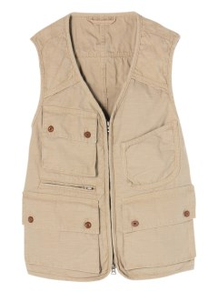 アンドワークス(&WORKS)のWashed Cotton Fisherman Vest VEST / ベスト