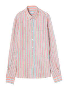 カプリ(CAPRI)のWide Stripe Linen Shirt SHIRTS / シャツ