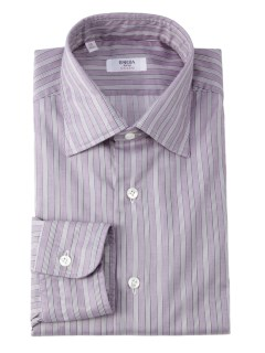 バルバ(BARBA)のBarba Culto Thick Stripe Shirt Purple SHIRTS / シャツ