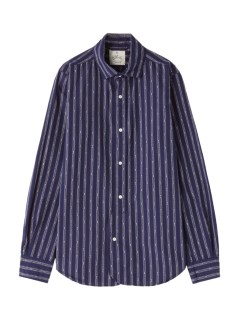 アンドワークス(&WORKS)の&Works Dobby Stripe Shirts Blue SHIRTS / シャツ