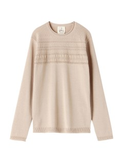 アンドワークス(&WORKS)の&Works Gunsey Patterned Knit KNIT / ニット