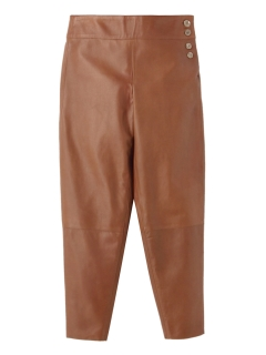 アーロン(AERON)のLeather Pants Brown PANTS / パンツ