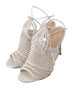 ジャンヴィト ロッシ(GIANVITO ROSSI)のGianvito Rossi Leather Woven Net Sandal Off SHOES / シューズ