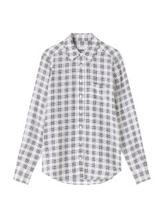 エキプモン(EQUIPMENT)のEQUIPMENT Check Pattern Printed Silk SHIRTS & BLOUSE / シャツ & ブラウス