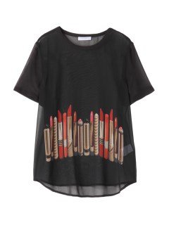 エキプモン(EQUIPMENT)のEQUIPMENT Lipstick Motif Silk T-shirts CUT&SEWN / カットソー