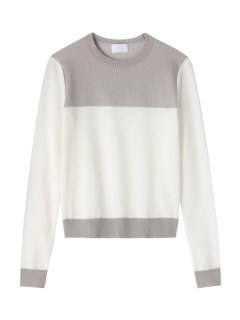 ハイアリン(HYALINES)のHYALINES Broken Color Pattern Kni KNITWEAR / ニット